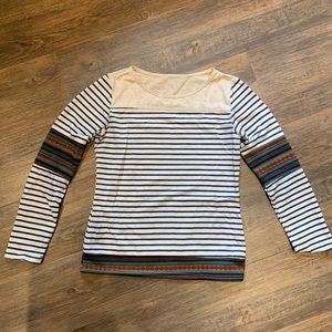 Tops - Striped and Aztec patterned long sleeve